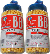2 Tubs of 2000 Yellow 0.15g Plastic 6mm BB Gun Pellets - 4000 Pellets in Total