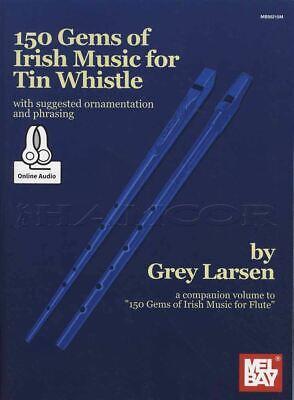 150 Gems Of Irish Music For Tin Whistle Sheet Music Book/audio Same Day Dispatch
