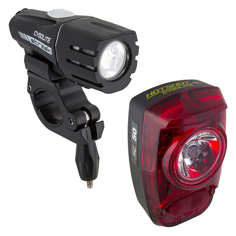 Cygolite Streak 450 Hotshot SL 50 Front + Rear LED Light Combo USB Rechargeable