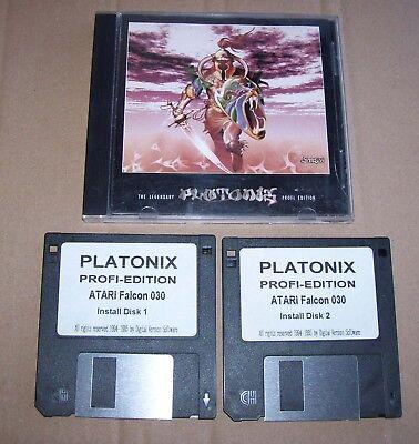 Utile Atari Falcon 030 Gioco Platonix Profi-edizione Digitale Vision 1995 2 X Dischi In Scatola- Buono Per Succhietto Antipiretico E Per La Gola