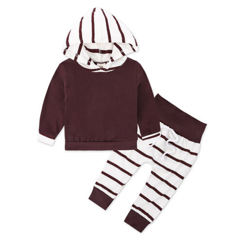 Children Tops+pants Kids Toddlers Autumn Hooded Stylish Tops+pants Winter