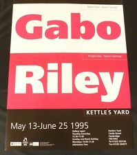 Bridget Riley, Naum Gabo - Gabo Riley  1995 ART EXHIBITION POSTER