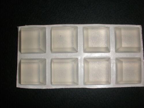 32 Glaspuffer Silikonbasis transparent ca 8 mm x ca 20 mm selbstklebend 8051