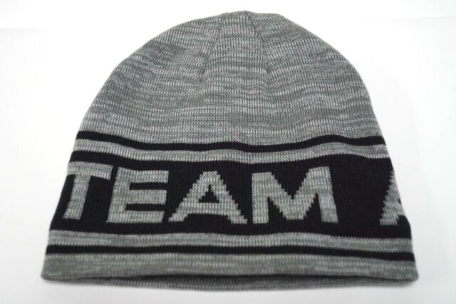 7ce7a991b1c Gray Team Arctic Cat Snowmobile Fleeced Adult Beanie Hat 5293-739
