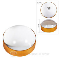 5x Glass Domed Paper Weight Magnifier Magnifiying Jewelers Tool