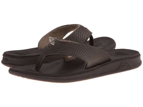 NEW MEN REEF ROVER TECHNOLOGY COMFORT SANDAL FLIP FLOP BROWN AUTHENTIC RF002295