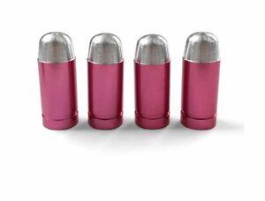 4-bouchons-de-valve-en-aluminium-balle-munition-Couleur-rose-Auto-Moto