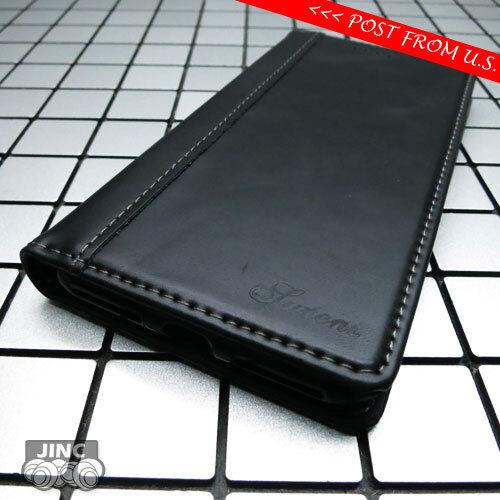 Libro De Cuero Genuino Negro Funda Billetera Petaca Para Apple iPhone XS Max xsmax