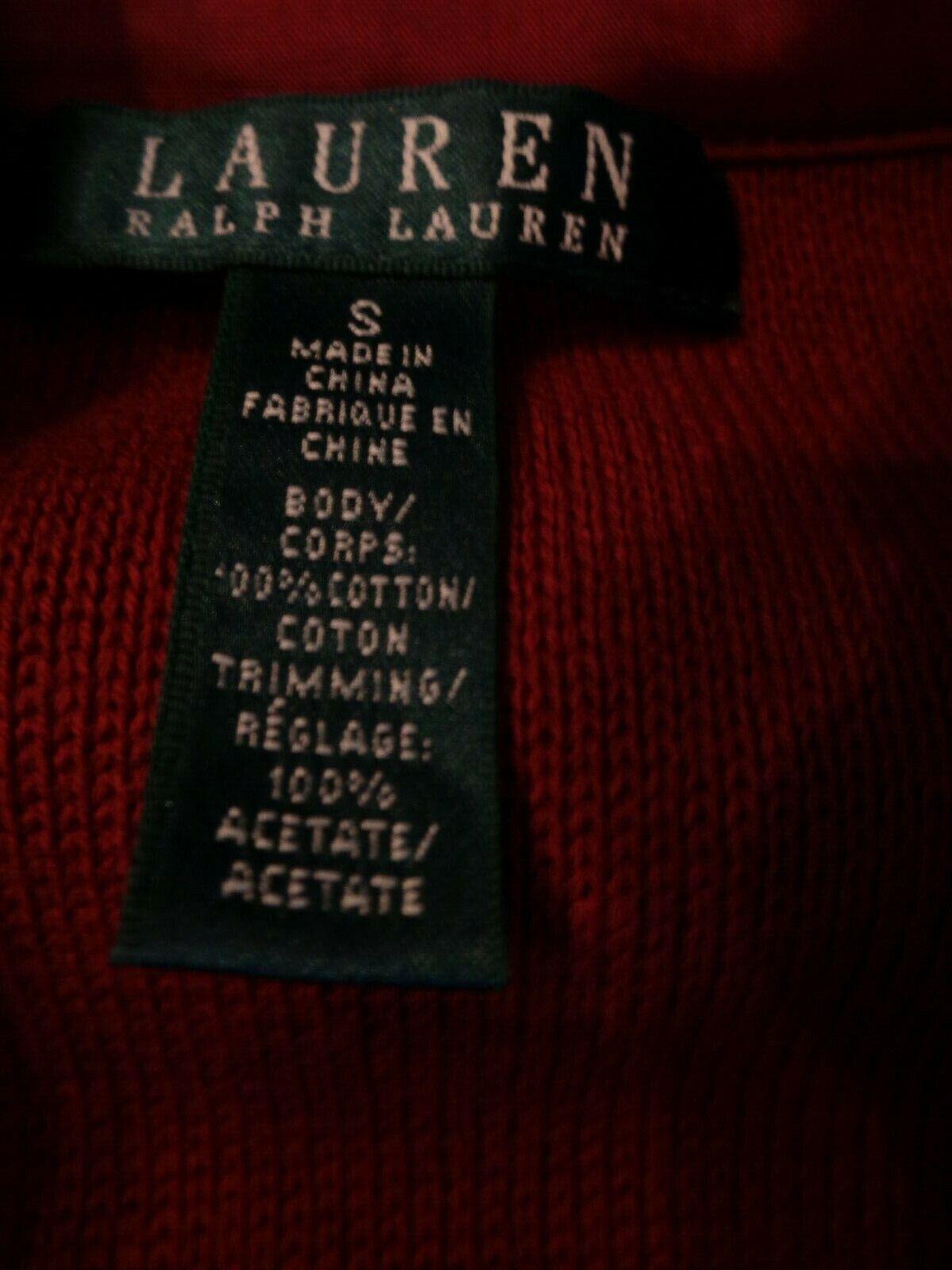 RALPH LAUREN CRANBERRY RED  KNIT VELVET COLLAR EQ… - image 7