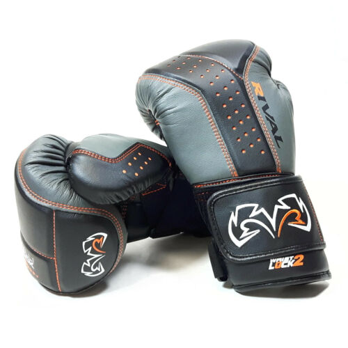 Rival Boxing RB10 Intelli Shock Bag Gloves Black Grey Pads Mitts Boxing Training