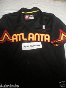 Nike atlanta hawks nba basketball warmup shirt jersey size for Hawks t shirt jersey