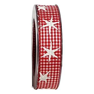 Borte 25mm Zierband 1m Dekoband Weihnachten Geschenkband
