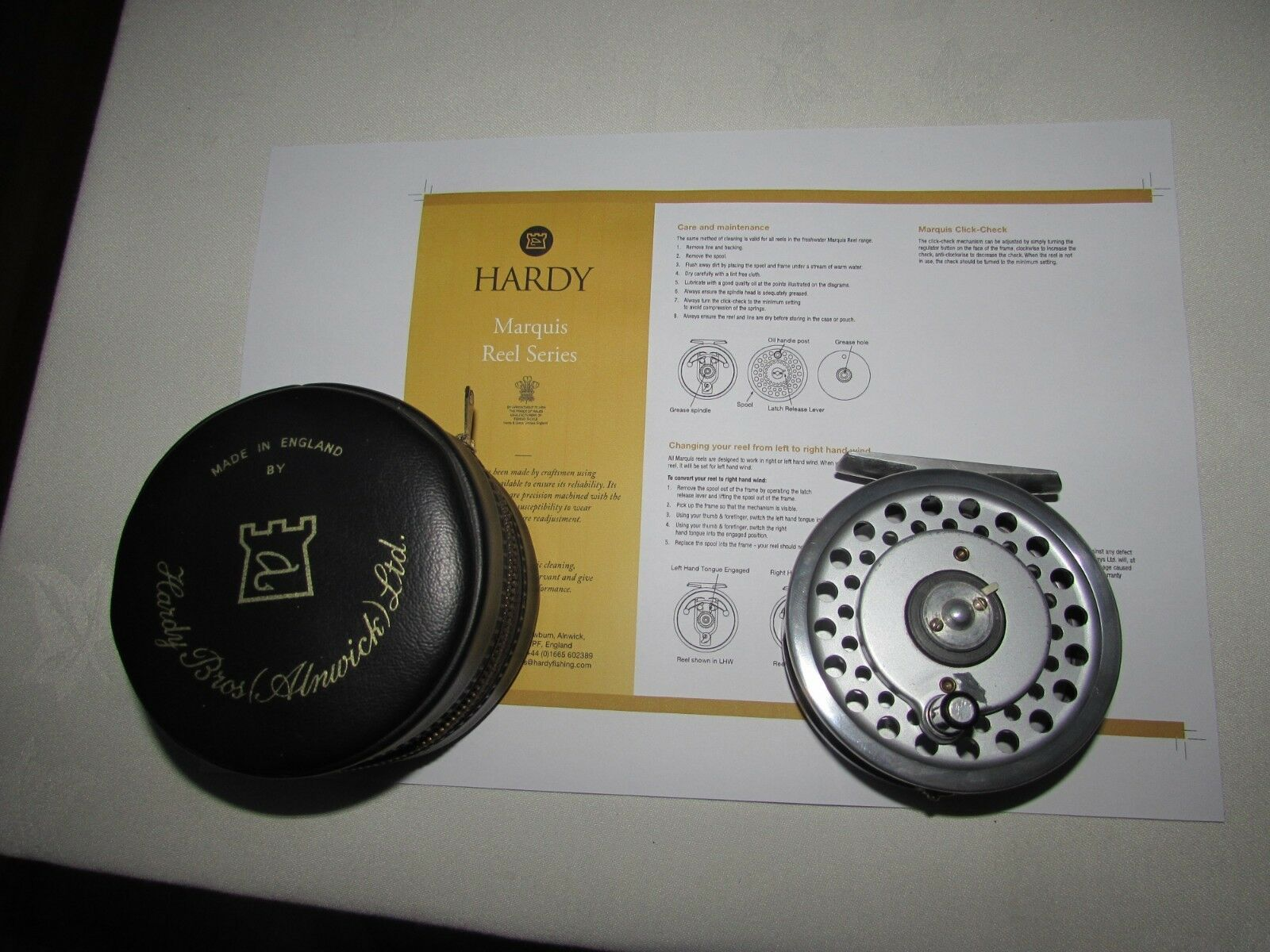 Excellent vintage hardy marquis 6 multiplier trout fly fishing  reel 3.25  etc  cheap and top quality