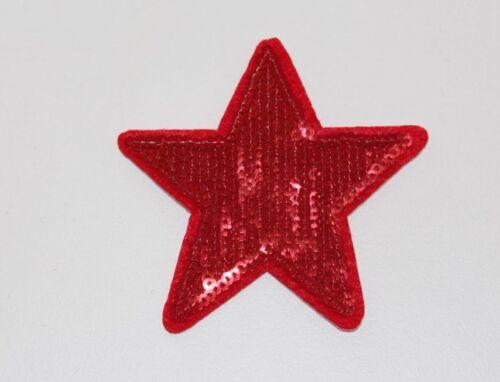 Red Sequin Star Motif Applique Embellishment Dance Costume