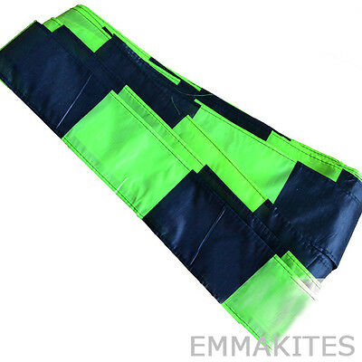 NEW 10M / 32ft Black & Green Kite Tail for Single Line Kites Delta Kites Outdoor