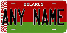 Belarus 1995 - 2012 Flag Any Name Customized Novelty Car License Plate