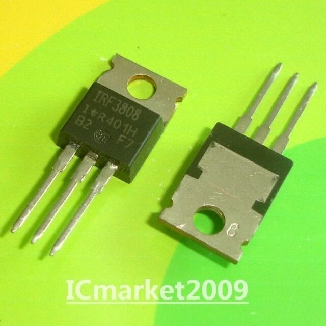 10 Pièces IRF3808 TO-220 IRF 3808 Power MOSFET