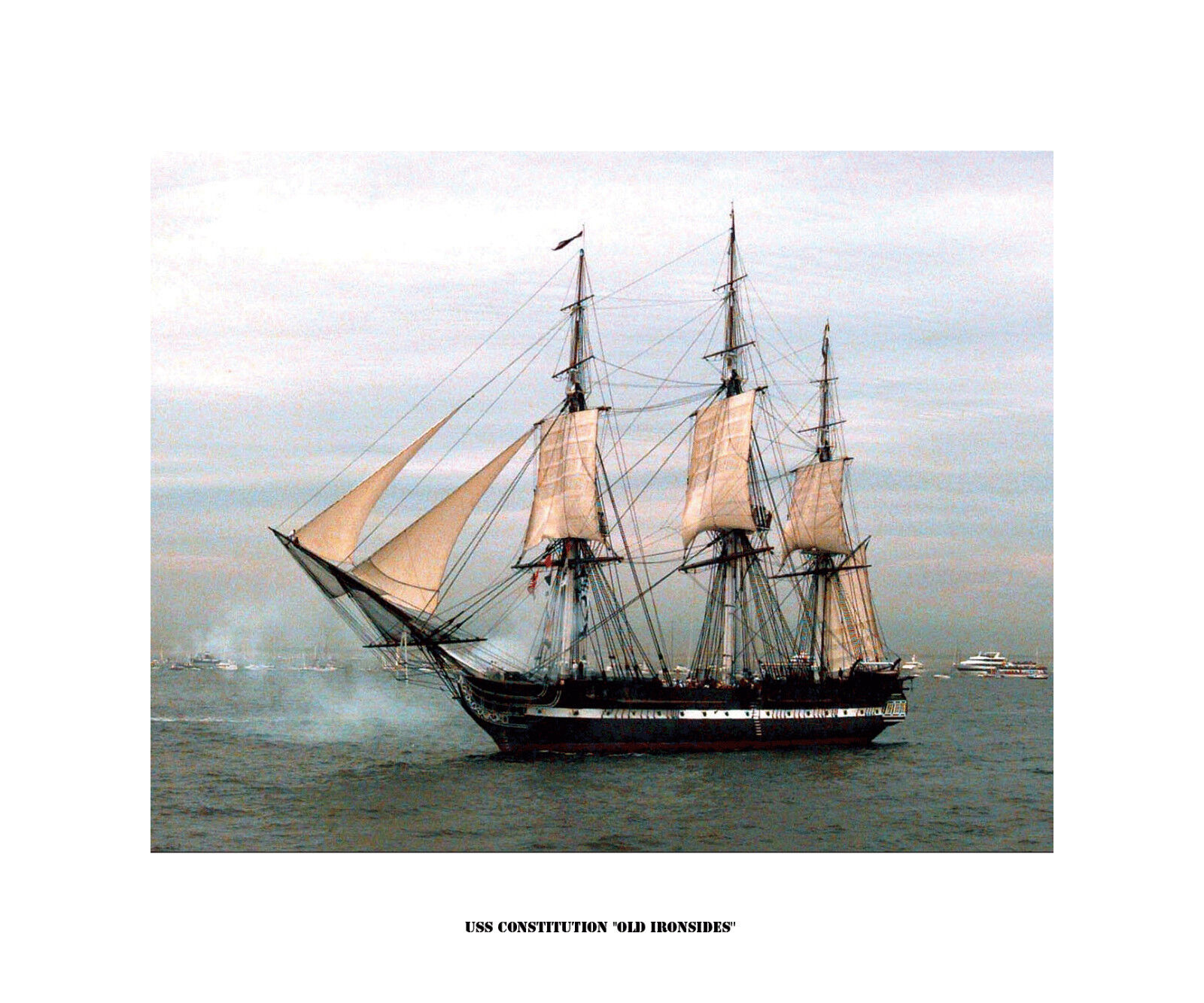 USS Constitution  Old Ironsides  - Kunst on Canvas