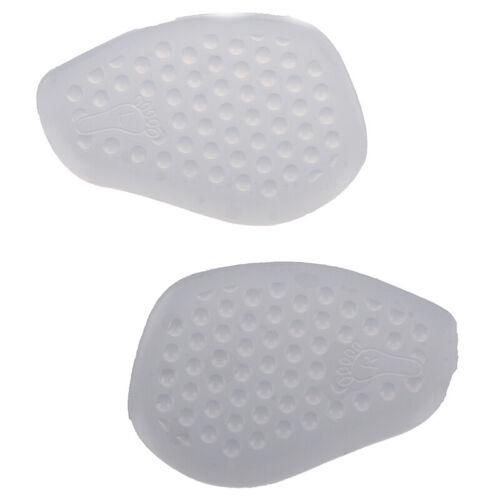 1 Pair Transparent Silicone Gel Cushion Insoles Massage Insert Half Size Pads G4