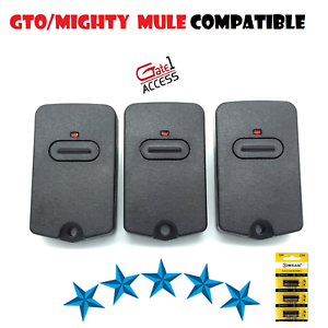 MIGHTY MULE FM135 BLACK CASE TRANSMITTER REMOTE 3 Pak GTO RB741 GATE OPENER