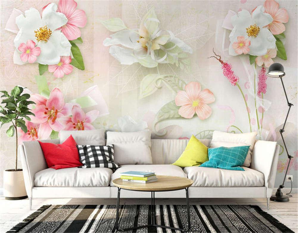 Ethnic Soft Flower 3D Full Wall Mural Photo Wallpaper Printing Home Kids Decor
