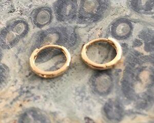 New Solid 14k Gold 1 5 Mm Micro Huggie Hoop Earrings In White Or