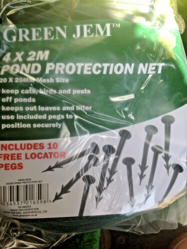 Pond Protection Net 4 x 2m by Green  Jem