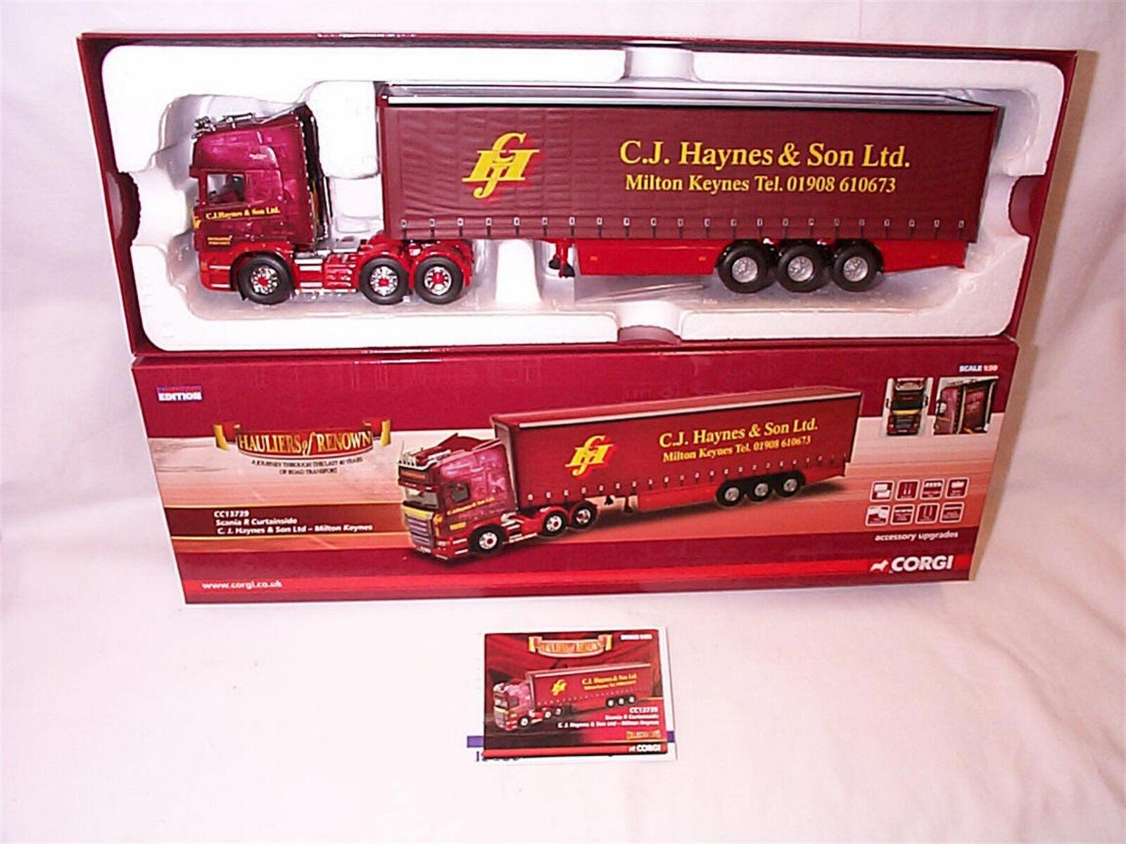 Scania R Curtainside C.J. HAYES & Sons Ltd CC13739 NEUF édition limitée