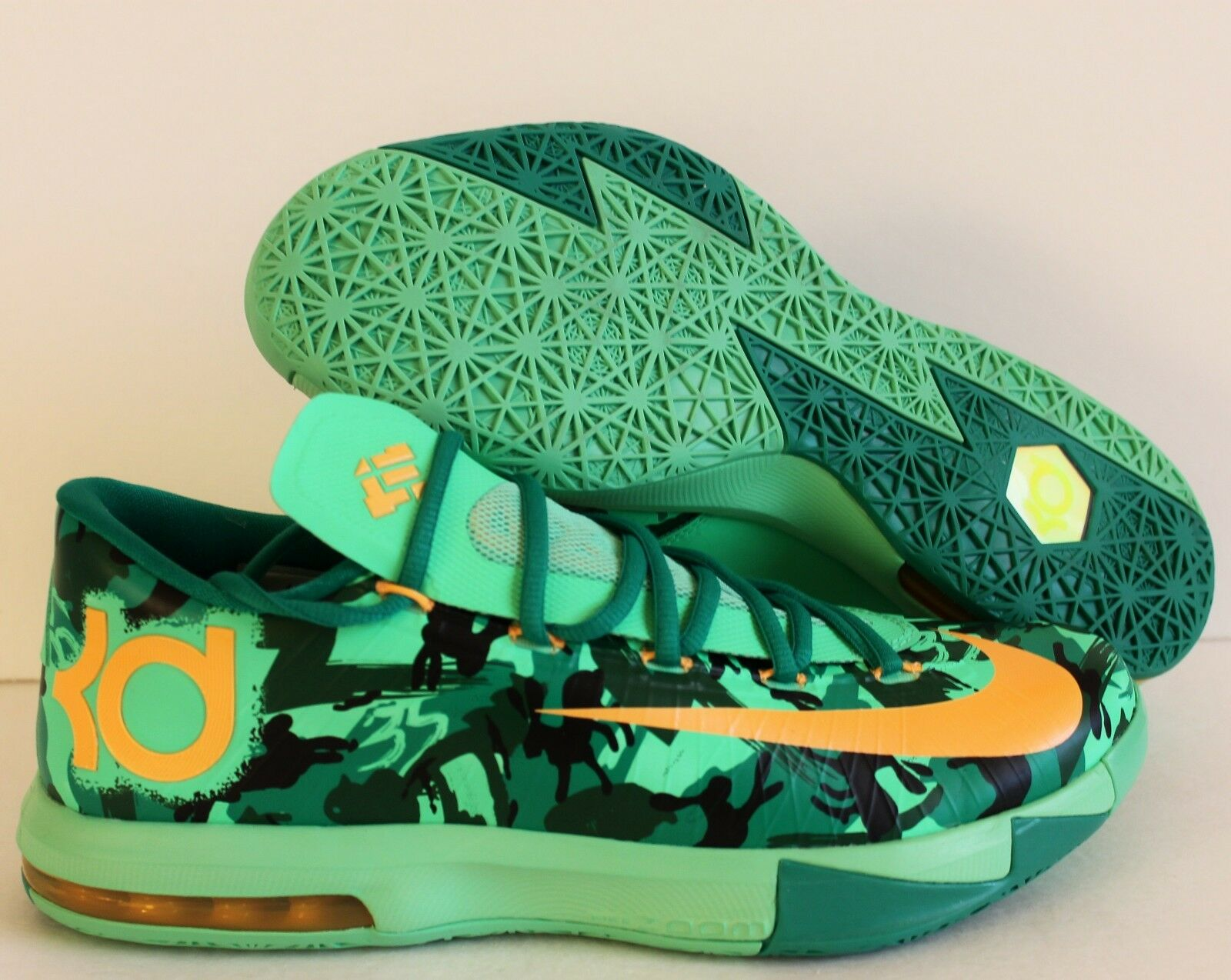 NIKE KD VI 6 EASTER LIGHT LUCID GREEN SZ 11 [599424-303]