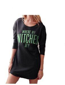 2c8c75742b029 Victoria's Secret Sleep lounge Shirt Tee Where My Witches At ...