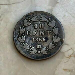 1866 M Mexico 10 Centavos - Imperial Maximilian Coinage