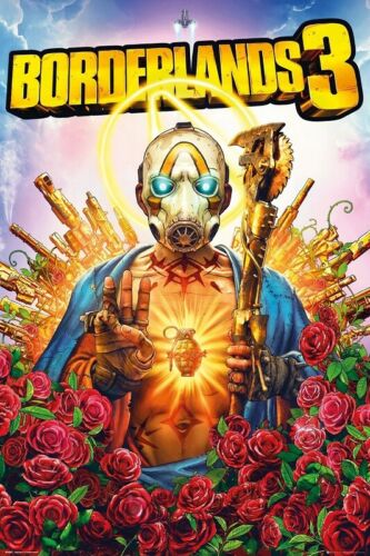Poster Borderlands 3 Cover Art Psycho Enemy Playstation 4 XBox One
