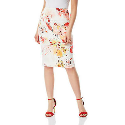 Roman Originals Women Burnout Floral Midi Skirt
