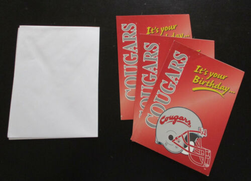 Washington State Cougars Birthday Greeting Card NEW w envelope