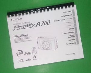 laser printed fujifilm a700 finepix camera 132 page owners manual ebay rh ebay com fuji finepix a700 manual