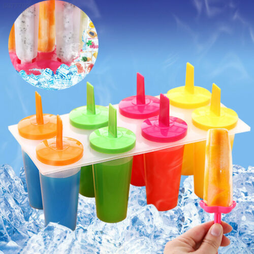 8 Cell Ice Pop Mold Popsicle Maker Lolly Mould Tray Pan Kitchen Frozen Ice Cream