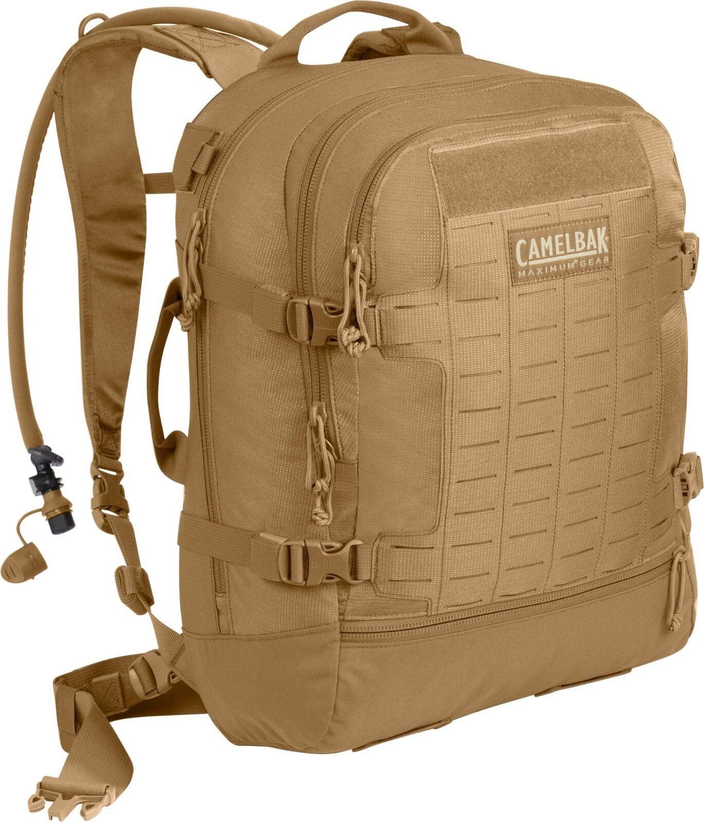 Camelbak escaramuza 62479 100oz 3L Mil Spec Antidote Hidratación Coyote + paquete de carga