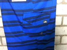 The north face board short swim beach water blue 36 waist L-XL Bnwt