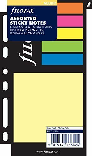 Filofax Personal Large Sticky Notes - Assorted