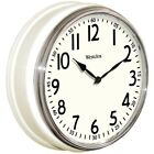 WESTCLOX 32041W 12 Round Vintage Kitchen Classic Clock, White