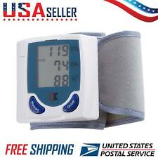 Digital LCD Wrist Blood Pressure Monitor with Heart Beat Pulse Meter