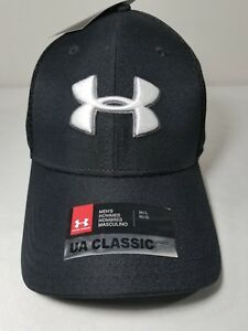 Under Armour UA Mens Golf Mesh Stretch 2.0 Hat Style  1273280 Black ... 607695d67651