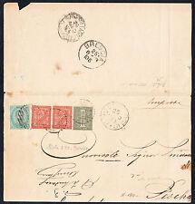 STORIA POSTALE Regno 1880 Piego 10c da Robecco d'Oglio a Peschiera (FB5) SPL