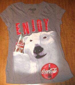 1a077c02bcb13 COCA COLA juniors small T shirt size 3-5 soda pop COKE retro V-neck ...