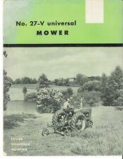 Ih Farmall International Mccormick No 27v Universal Sickle Mower Sales Brochure