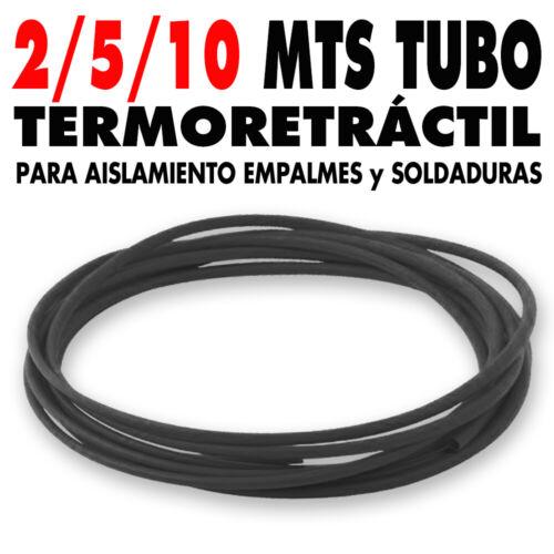 2-5-10 mts tubo-funda Termoretráctil Ø 1,5 mm Protección Soldaduras-Conexiones