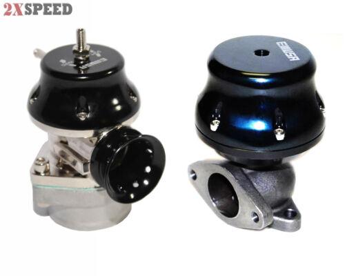 RS Style Universal Billet BOV Blow off valve 35//38MM Adj.Wastegate 2-Bolt BLACK