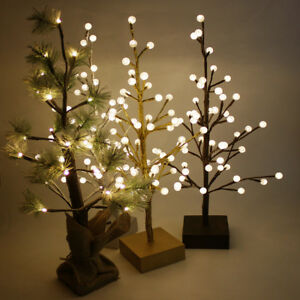 Light Up Pre-Lit LEDs Warm White Christmas Small Tree Xmas ...