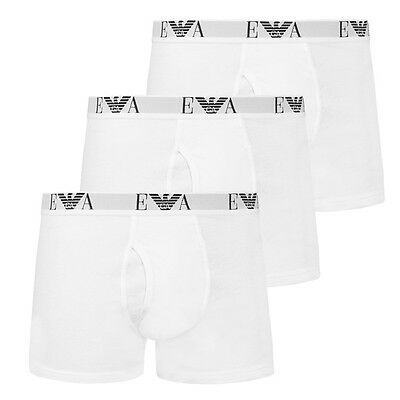 EMPORIO ARMANI 3-PACK TRUNK BOXERSHORTS WHITE BOXER SHORT 111867-CC712-00010