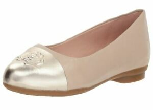 374d5f2930a Image is loading New-Womens-TARYN-ROSE-Annabella-Taupe-Leather-Ballet-